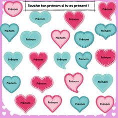 FREEBIE- Fichier Notebook pour prendre les présences des élèves à la St-Valentin #stvalentin #TBI #TBI #smartboard