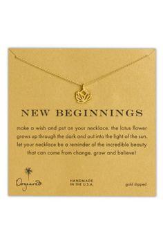 Julie Mc:  Dogeared 'Reminder - New Beginnings' Pendant Necklace | Nordstrom