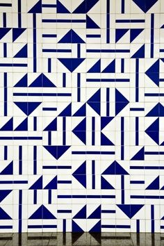 These tile patterns were designed by Brazilian artist and designer Athos Bulcão, who collaborated with Oscar Niemeyer and other architects and designers to help build Brazil's relocated capital city, Brasilia, in 1956. The city was a grand social, political, and urban experiment, is now the largest…