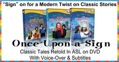 Royalegacy Reviews and More: New Award-Winning Children's Once Upon a Sign DVD Series in ASL - Review & Giveaway - ends 6/17/15