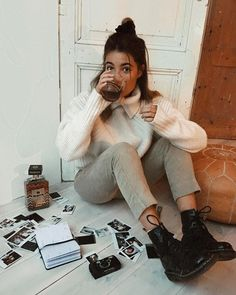 Winter outfits ideas to fall fashion casual outfits Mode Outfits, Casual Outfits, Fashion Outfits, Womens Fashion, Hipster Girl Outfits, Fashion Ideas, Grunge Outfits, Dress Outfits, Fashion Trends
