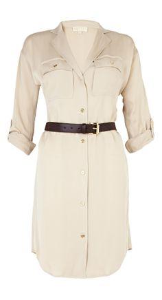 Belted shirt dress - so versatile