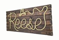 REESE: 32 Western Rope Name Sign Cowboy / Cowgirl by RopeAndStyle