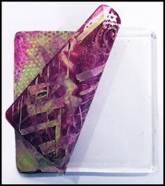 Using cold lamination sheets, acrylic paint, and gelli print