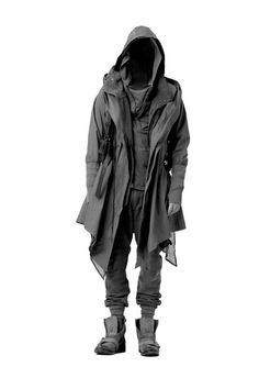 Cyberpunk, Future, Dark Fashion, Nicholas K Fall 2012 Lennon Jacket (Graphite) Ringo Sweat (Granite) Dune Hoody (Graphite) Cole Pant (Granite) Brando Pack (Mink) Cyberpunk Mode, Cyberpunk Fashion, Cyberpunk Clothes, Dark Fashion, Mens Fashion, Street Fashion, Fashion Goth, Steampunk Fashion, Urban Fashion