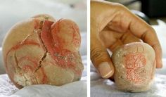Glyphs carved into a tiny alabaster jar have led archaeologists to conclude that the tomb in Guatemala where the jar was found belonged to one of the greatest queens of the Classic Maya civilization, known as Lady K'abel. (via NBC News; photo via El Peru-Waka Regional Archaeological Project)