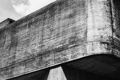 """Exterior Detail of Paul Verilio and Claude Parent's, """"Church of Sainte Bernadette du Banlay"""", (1966)"""