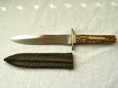 Bowie Knife Spear Point Knife Hunting by NorthwestPonyExpress RARE XMAS R .