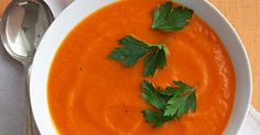 Five ingredients and a simple recipe is all it takes to create this tasty carrot and orange soup.