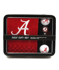 Another great find on #zulily! Alabama Crimson Tide Embroidered Golf Towel Set #zulilyfinds