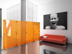modern decorative office partitions colored panels