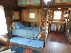 Tiny Texas Houses Facebook Photo Albums   Tiny Texas Houses  Little Sister, great folding staircase and trundle bed.