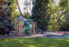Please, somebody tell me I'm not too old to play in this backyard playground? I'm dying to try out this in-ground trampoline. Design by Arcadia Design Group in Centennial, CO. For more backyard landscaping pictures visit: http://www.landscapingnetwork.com/pictures/backyard-landscaping_1/