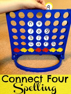 Connect Four Spelling: Create Spelling Games from old games that are no longer played