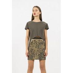 Front sequin skirt #sequin #minimalism