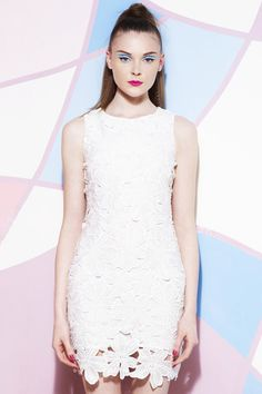 ROMWE | Sleeveless Lace White Dress, The Latest Street Fashion #ROMWEROCOCO