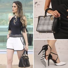 O preto e o branco formam uma dupla perfeita e chic! As cores aparecem juntas em muitas combinações sofisticadas. Para o Verão, a Carmen Steffens aposta nas texturas e traz os clássicos atualizados! Cool Outfits, Casual Outfits, Summer Dresses 2017, Fashion Pictures, Women's Fashion Dresses, Casual Chic, Everyday Fashion, Casual Looks, Fashion Looks