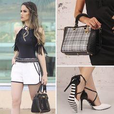 O preto e o branco formam uma dupla perfeita e chic! As cores aparecem juntas em muitas combinações sofisticadas. Para o Verão, a Carmen Steffens aposta nas texturas e traz os clássicos atualizados!