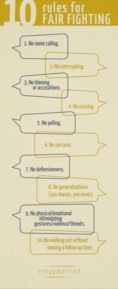 10 rules for fighting fair by The Gottman Institute which is great information for couples having trouble with communication and conflict resolution. (Pancake For Kids Parents) Marriage Relationship, Marriage And Family, Happy Marriage, Marriage Advice, Strong Marriage, Relationship Fights, Relationship Therapy, Marriage Help, Relationship Building
