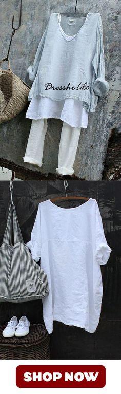 T-Shirt Shirt Bluse Tunika Print Glitzer Leinen Mix 42 44 Italy