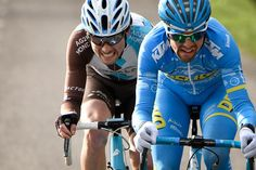 Romain Combaud and Pierre Latour in the breakaway during stage 3 at Paris-Nice