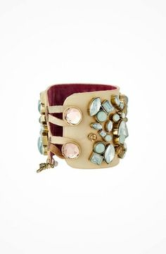 Betsey Johnson Wide Stone Wrap Bracelet #jewelry https://www.heeyy.com/4dca96f