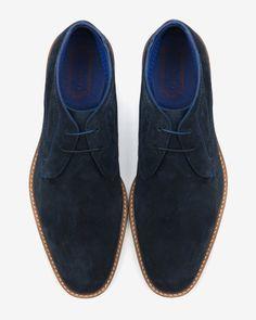 Suede ankle boots - Dark Blue   Footwear   Ted Baker UK