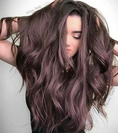 Gorgeous smoky plum hair