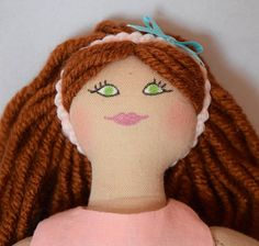 Redhead Girl Doll  Kids Toy  Doll Clothes  Handmade