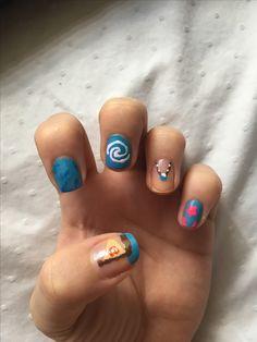 Moana nail art
