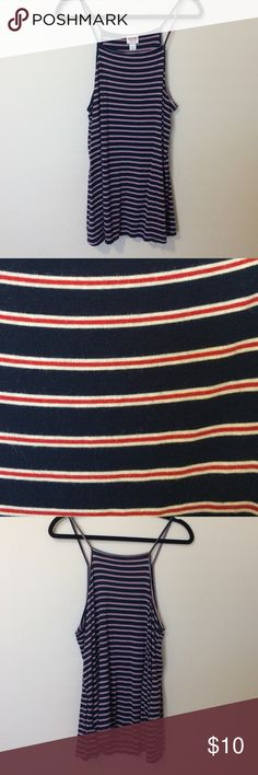 🌞Striped Tank🌞 Loose hanging navy, red, and white striped tank. Size XL by Mossimo from Target. Worn 1x Smoke Free home ❤️ Mossimo Supply Co Tops Tank Tops