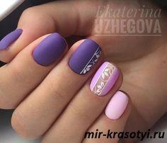 Ideas fails design gel short purple for 2019 Shellac Nail Designs, Purple Nail Designs, Shellac Nails, Nail Art Designs, My Nails, Coffin Nails Matte, Dream Nails, Flower Nails, Purple Nails