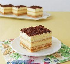 Moha Pekseg uploaded this image to 'Sutemenyek'. See the album on Photobucket. Hungarian Desserts, Hungarian Recipes, Cold Desserts, Sweet Desserts, Cake Bars, Sweet Cakes, Pinterest Recipes, Sweet And Salty, Winter Food