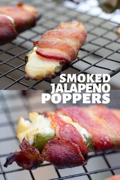 Smoked Jalapeno Poppers on your Traeger wood-pellet grill is a perfect party appetizer! Traeger Smoker Recipes, Grilling Recipes, Meat Recipes, Appetizer Recipes, Appetizers, Traeger Bbq, Camping Recipes, Barbecue Recipes, Healthy Recipes