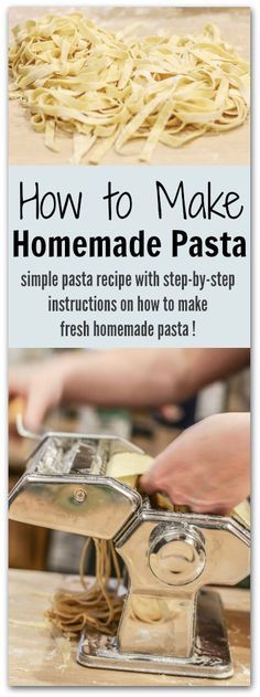 Making homemade pasta is easy. Here is a simple egg pasta recipe with step-by-step instructions on how to make delicious, fresh homemade pasta noodles!