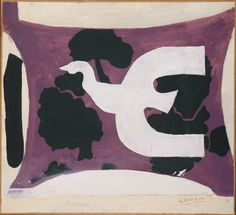Georges Braque. Bird, 1956. Oil on canvas; 18 x 19 1/2 in.