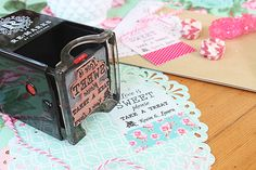 Win a $100 gift card to ReMarks to create your own custom stamp! Read more - http://www.100layercake.com/blog/2015/05/06/remarks-stamps-diy-wedding-idea/