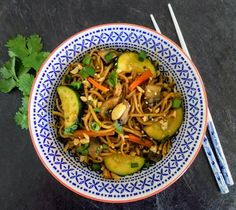 Vegan noodle dish with the perfect blend of sweetness and spicy kick