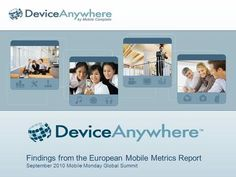 Findings from the European Mobile Metrics Report September 2010 Mobile Monday Global Summit.>