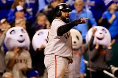 Pablo Sandoval went 3 for 3, and scored two runs for the Giants. It was his speed that made all the difference in the Giants' offense. | San Francisco Giants Win 2014 World Series