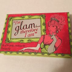 I'm glam therefore I am palette I've used a couple of the colors twice but it's barely even been used• still has the brush and eyeshadow applicator• only things missing is a lipgloss, mascara, and paper with tutorials ⚡️ fast shipper  💸don't be afraid to use the offer button ❔ask any questions 🛍bundle for a better deal Benefit Makeup