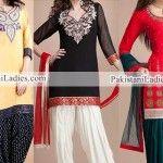 Patiala Salwar Kameez 2015, Punjabi Kurti Suit Neck Designs