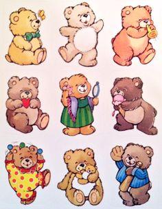 Teddy bear stickers