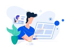 Modern UI - Illustration designed by Pawel Olek. Connect with them on Dribbble; Flat Design Illustration, People Illustration, Business Illustration, Character Illustration, Digital Illustration, Graphic Illustration, Ux Design, Design Sites, Icon Design