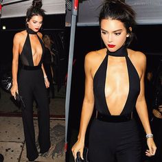 Kendall Jenner 20th Birthday Black Outfit