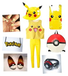 """Pikachu outfit"" by asya-arends ❤ liked on Polyvore featuring Dsquared2"