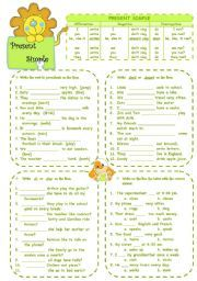 English worksheets: simple worksheets, page 1