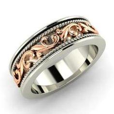 Men's - Gordon - Men's Ring in 14k White Gold