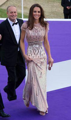 Catherine Middleton en la cena de gala del 10o aniversario de ARK en Perk's Field en Londres el 9 de junio.