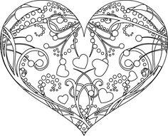 Un cœur décoré